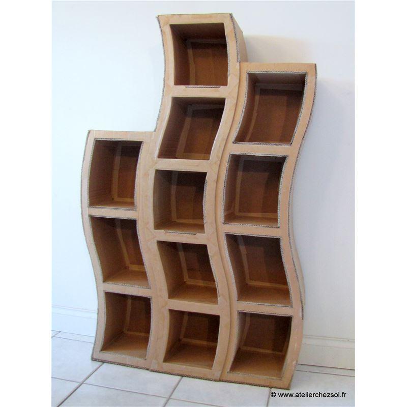Patron de meuble en carton etag re hondule grande de l - Patron meuble en carton gratuit ...