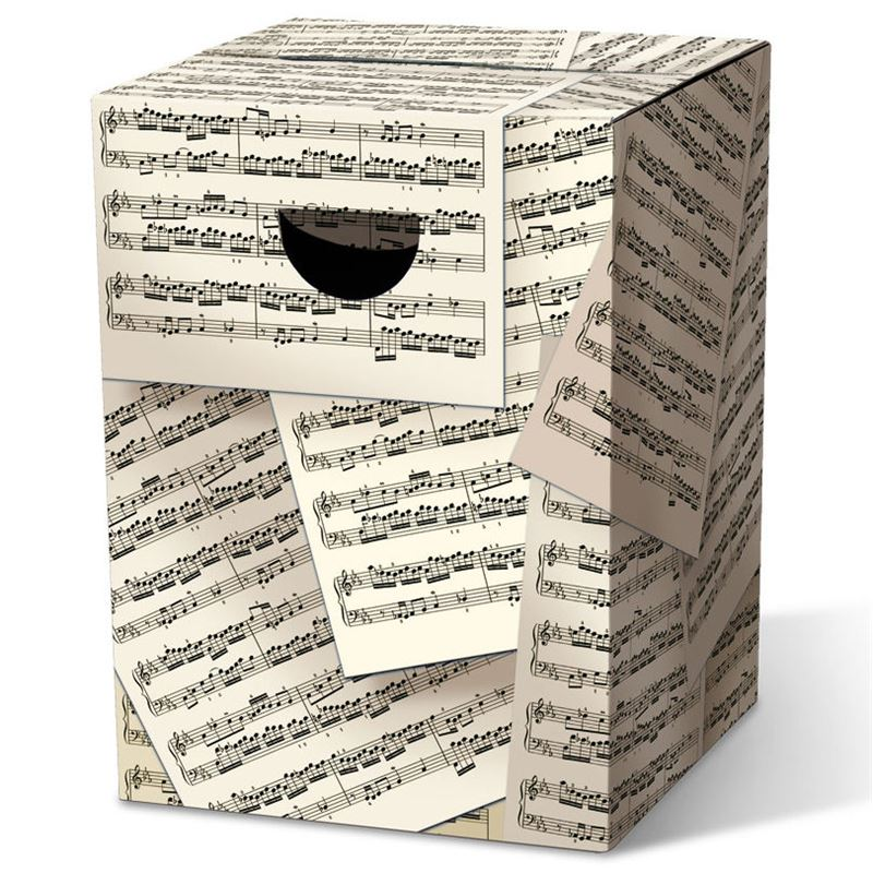 tabouret en carton partitions musique remember meuble kit. Black Bedroom Furniture Sets. Home Design Ideas