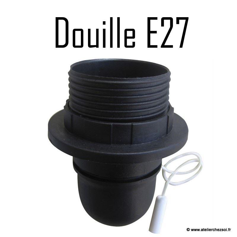 Douille e27 legrand kit de suspension douille e w cble - Installer luminaire sur douille dcl ...
