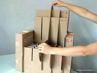 combien de carton pour fabriquer un fauteuil en carton. Black Bedroom Furniture Sets. Home Design Ideas