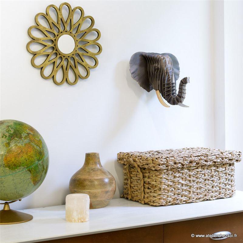 troph e t te d 39 elephant en carton d cor moyen de l 39 atelier chez soi. Black Bedroom Furniture Sets. Home Design Ideas