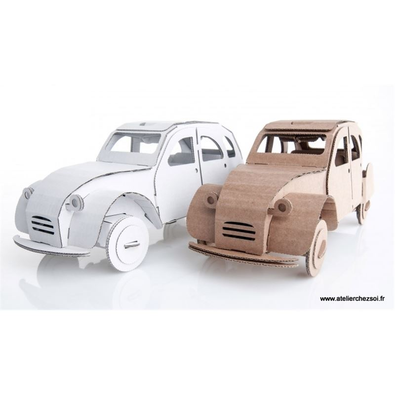voiture 2cv carton brun construire maquette leolandia. Black Bedroom Furniture Sets. Home Design Ideas