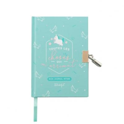 Journal intime bleu Licorne Toutes les Choses qui m'arrivent 11x15 cm Mr Wonderful