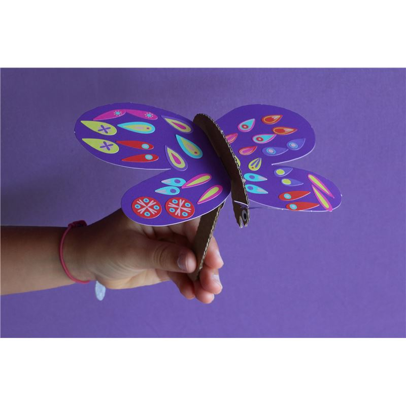 kit cr atif 6 papillons fabriquer avec stickers activit enfant. Black Bedroom Furniture Sets. Home Design Ideas