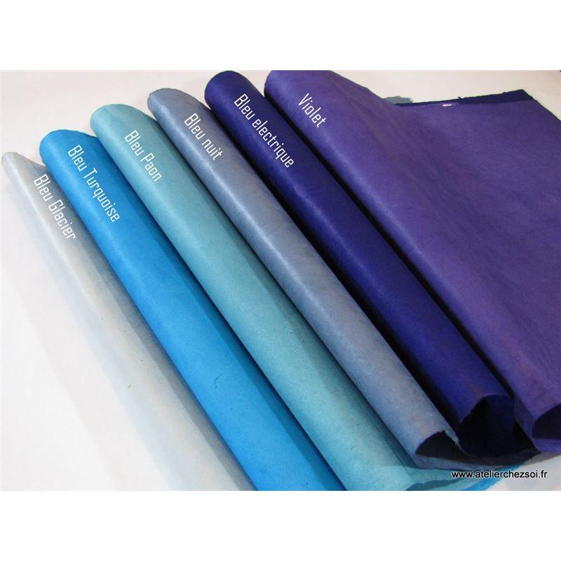 papier n palais uni couleur bleu electrique 50x75 cm de l 39 atelier chez soi. Black Bedroom Furniture Sets. Home Design Ideas