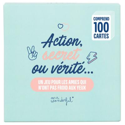 Jeu de Cartes 100 Questions Action Secret ou Vérité Mr Wonderful
