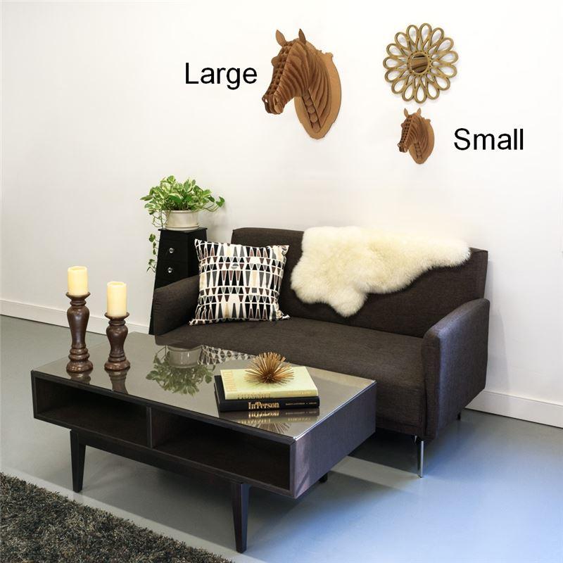 troph e t te de cheval en carton brun grand de l 39 atelier chez soi. Black Bedroom Furniture Sets. Home Design Ideas