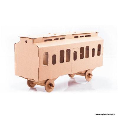 Wagon en carton construire maquette leolandia - Construire des meubles en carton ...