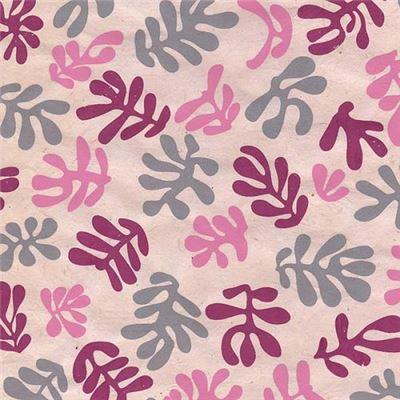 papier n palais algues roses 50x75 cm de l 39 atelier chez soi. Black Bedroom Furniture Sets. Home Design Ideas
