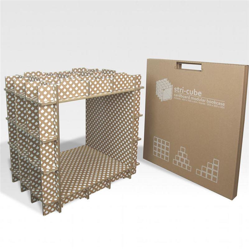 Module de rangement en carton stri cube s rigraphi blanc for Compra de muebles por internet