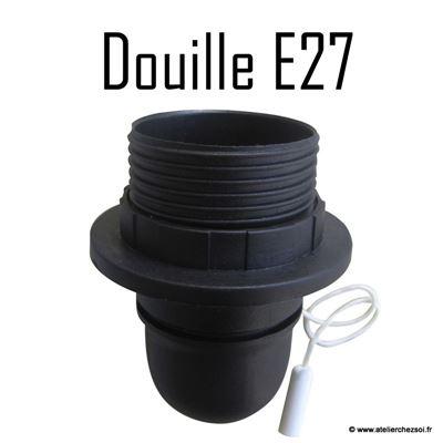 douille lectrique e27 noire avec interrupteur tirette 60w de l 39 atelier chez soi. Black Bedroom Furniture Sets. Home Design Ideas