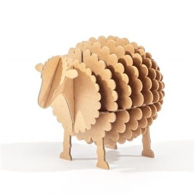 Mouton en carton Kraft Taille S Cocorikraft