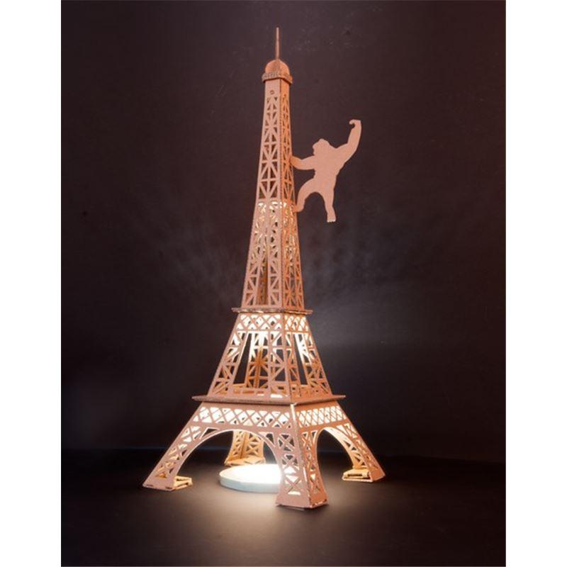 Populaire Tour Eiffel en carton brun à construire 50cm Leolandia de L  LU82