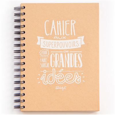 Carnet kraft à spirale aux Superpouvoirs pour grandes idées Mr Wonderful