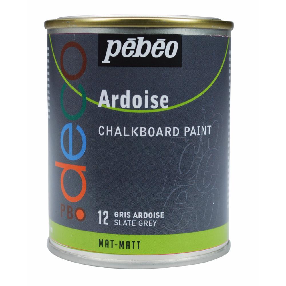 Peinture ardoise couleur gris ardoise 250ml p b o for Peinture facade gris ardoise