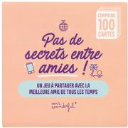 Jeu de Cartes 100 Questions Amitié Pas de Secrets entre Amies Mr Wonderful