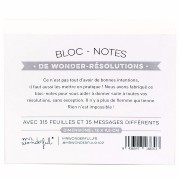 Bloc-Notes wonder-résolutions 315 pages Mr Wonderful