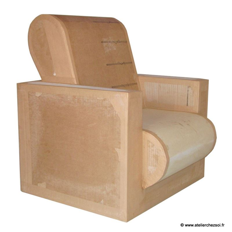 patron de meuble en carton fauteuil hadam enfant de l 39 atelier chez soi. Black Bedroom Furniture Sets. Home Design Ideas