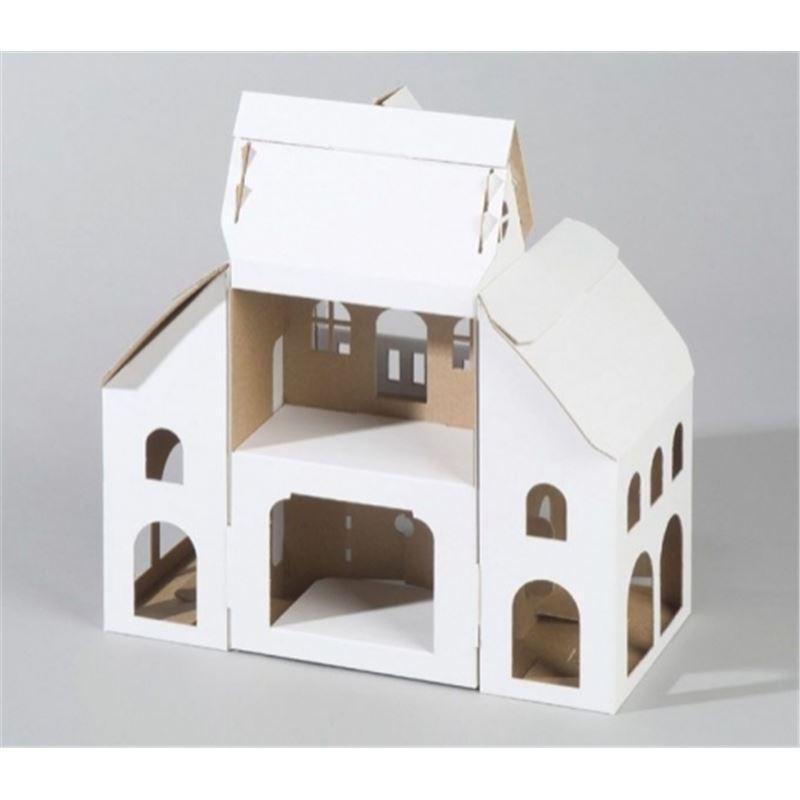 maison en carton d corer calafant de l 39 atelier chez soi. Black Bedroom Furniture Sets. Home Design Ideas