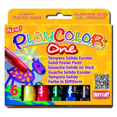 Gouache Solide 6 Sticks Couleur Basic One Playcolor