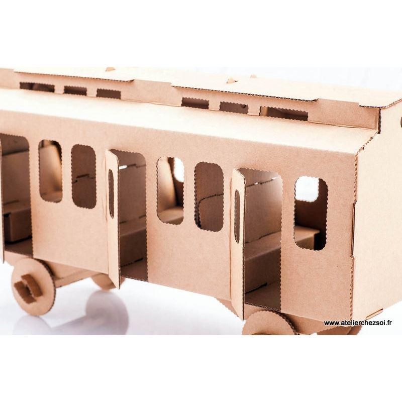 wagon en carton construire maquette leolandia. Black Bedroom Furniture Sets. Home Design Ideas