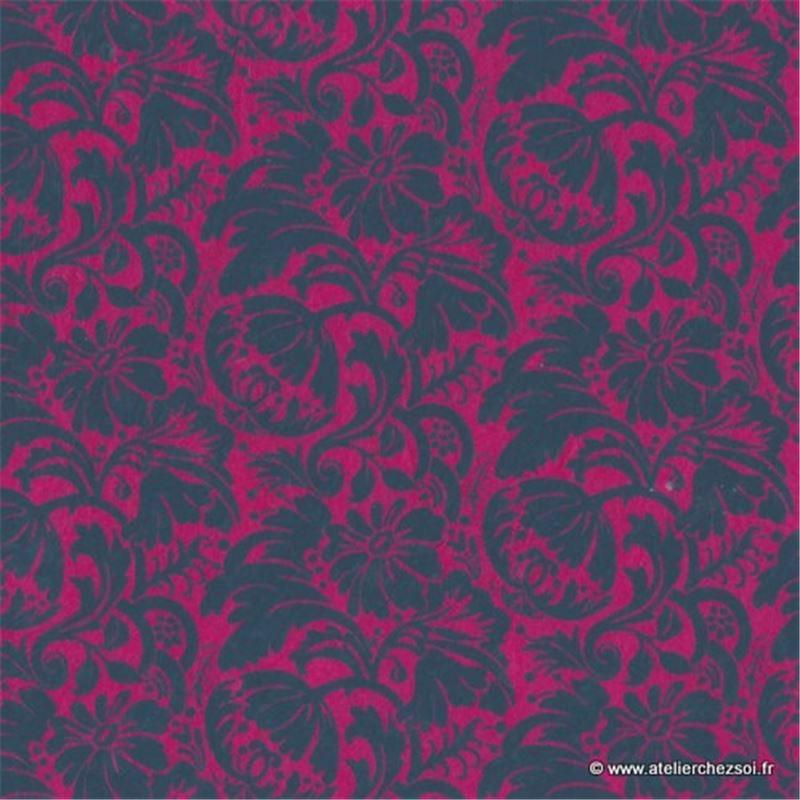 papier n palais floral rouge 50x75 cm de l 39 atelier chez soi. Black Bedroom Furniture Sets. Home Design Ideas