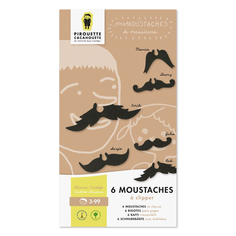 Kit 6 moustaches clipper activit enfants l 39 atelier for Activite chez soi