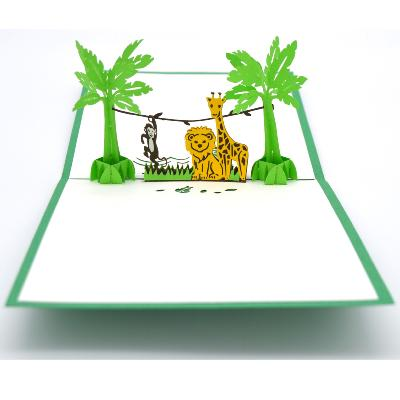Carte pop-up Animaux Jungle Wonkard