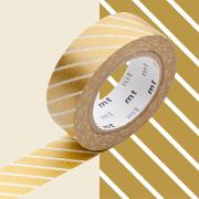Masking Tape Motif Rayé Or Rouleau 15mm x 10m